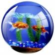FELLOWES egéralátét, kör alakú, Brite™, akvárium