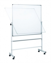 átfordítható tábla, zománcozott, kétoldalas, 90x120 cm