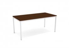 MAYAH általános asztal fémlábbal, 80x160 cm, Premio CS-6, dió