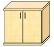 VICTORIA szekrény, 2 magas polcos, kétajtós, Nóniusz, juhar