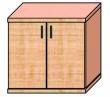 VICTORIA szekrény, 2 magas polcos, kétajtós, zárható, Nóniusz, bükk