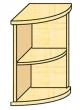 VICTORIA szekrény, 2 polcos, magas, nyitott, sarok, Nóniusz, juhar