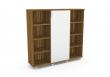 MAYAH szekrény, 4 polcos, magas, Bravo, Ceylon-fehér