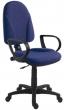 irodai forgószék, szövetborítás, fekete lábkereszt, 1080, kék
