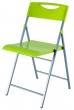 ALBA összecsukható szék, fém és műanyag, Smile, zöld