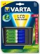 VARTA elemtöltő, AA ceruza/AAA mikro, 4x2400 mAh AA, LCD, 3 funkció, szivargyújtó csatl., 15p tölt idő