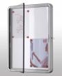 NOBO vitrin, beltéri, mágneses, álló (6xA4)