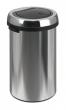 VEPA BINS érintőfedeles szemetes, 50 l, fém, ezüst