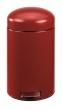 VEPA BINS pedálos szemetes, 12 l, fém, piros