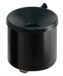 VEPA BINS hamutartó, fali, alumínium, henger alakú, fekete
