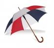 automata esernyő, hajlított fa nyéllel, csíkos