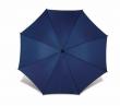 automata esernyő, hajlított fa nyéllel, kék
