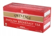 TWININGS tea, fekete, English Breakfast, 25x2 g