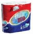 LILLA toalettpapír, 2 rétegű, 4 tekercses, 15 m, 130 lap/tek., Lilla Duo