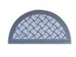 szennyfogó szőnyeg, 37x66 cm, félkör alakú, Moquette, szürke