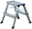 KRAUSE fellépő, 2x2 lépcsőfokos, alumínium, gurítható, Rolly