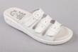 papucs, 3 csatos, 37-as méret, Fusbet, fehér