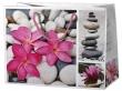 dísztasak, 17,8x10x23 cm, közepes, virágos