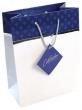 dísztasak, 18x23x10 cm, kék