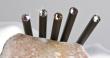 ceruza, light topáz kristállyal, 17,5cm, MADE WITH SWAROVSKI ELEMENTS, fekete