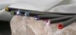 ceruza, rózsaszín kristállyal, 17,5cm, MADE WITH SWAROVSKI ELEMENTS, fekete