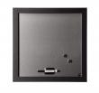 BI-OFFICE mágnestábla, törölhető, 45x45 cm, fakeretes, Black Shadow, ezüst-fekete