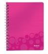 LEITZ spirálfüzet, A5, 80 lap, Wow, rózsaszín, vonalas
