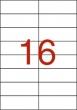 APLI etikett, A4, 105x37 mm, 2 pályás, 160 etikett/csomag, univerzális
