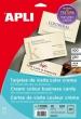 APLI névjegykártya, 89x51 mm, 230 g, előre vágott, texturizált, krém
