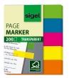 SIGEL jelölőcímke, műanyag, 5x40 lap, 12x50 mm, 615, vegyes szín