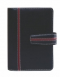 SATURNUS kalendárium, gyűrűs, betétlapokkal, S, műbőr, kék-piros