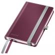 LEITZ jegyzetfüzet, A6, kockás, 80 lap, keményfedeles, Style, gránátvörös
