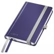LEITZ jegyzetfüzet, A6, kockás, 80 lap, keményfedeles, Style, titánkék
