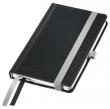 LEITZ jegyzetfüzet, A6, kockás, 80 lap, keményfedeles, Style, szaténfekete