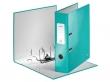 LEITZ iratrendező, 80 mm, A4, PP/karton, lakkfényű, 180 Wow, jégkék