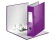 LEITZ iratrendező, 80 mm, A4, PP/karton, lakkfényű, 180 Wow, lila