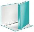 LEITZ gyűrűs könyv, 4 gyűrű, D alakú, 40 mm, A4 Maxi, karton, lakkfényű, Wow, jégkék