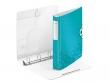 LEITZ gyűrűs könyv, 4 gyűrű, D alakú, 52 mm, A4, PP, Active Wow jégkék