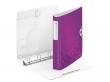 LEITZ gyűrűs könyv, 4 gyűrű, D alakú, 52 mm, A4, PP, Active Wow lila