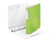 LEITZ gyűrűs könyv, 4 gyűrű, D alakú, 52 mm, A4, PP, Active Wow zöld