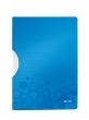 LEITZ gyorsfűző, klippes, PP, A4, Wow ColorClip kék