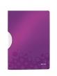LEITZ gyorsfűző, klippes, PP, A4, Wow ColorClip lila