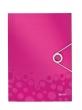 LEITZ gumis mappa, PP, A4, Wow, rózsaszín