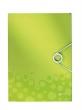 LEITZ gumis mappa, PP, A4, Wow, zöld