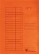 VICTORIA pólyás dosszié, karton, A4, narancs