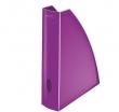 LEITZ iratpapucs, műanyag, 60 mm, elöl nyitott, Wow, metál lila