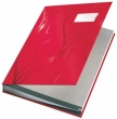 LEITZ aláírókönyv, A4, 18 részes, karton, Design, piros