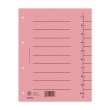 DONAU regiszter, karton, A4, 1-10, rózsaszín