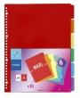 VIQUEL regiszter, műanyag, A4 Maxi, 6 részes