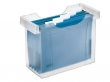 LEITZ függőmappa tároló, műanyag, 5 db függőmappával, Plus, áttetsző